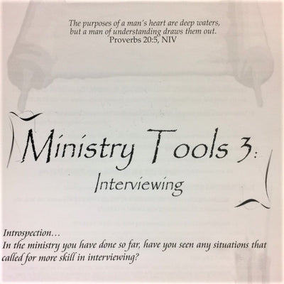 Ministry Tools 3: Interviewing - 201 School Lesson 9 (mp3) - Elijah House