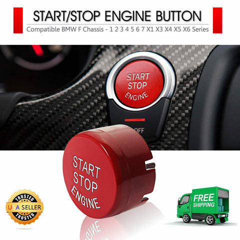 Red Start Stop Engine Button Cover Replacement BMW F20 F22 F30 F32 F10 F12 F15