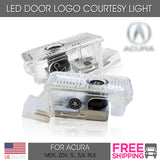Fit Acura LED Door Light Logo Welcome Courtesy Lighting TL TLX MDX RLX ZDX 2 PCS