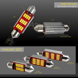 42MM Festoon LED Canbus 12 SMD Interior Bulb Courtesy Map Dome License Light 4x