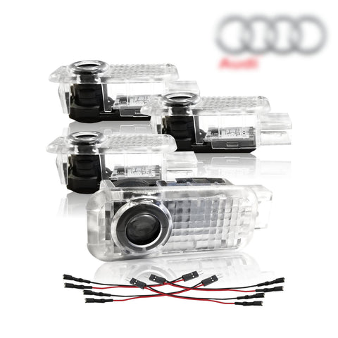 InSassy Audi Led Car Door Lighting Logo Projector Step Light for Audi Accessories (4 Pack)