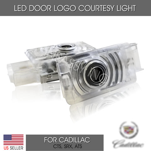 For Cadillac LED Door Light Logo Projector Welcome Courtesy Step Lighting x2