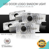 LED Door Light Logo Projector Welcome Courtesy Step Lighting for Cadillac 4 PCS