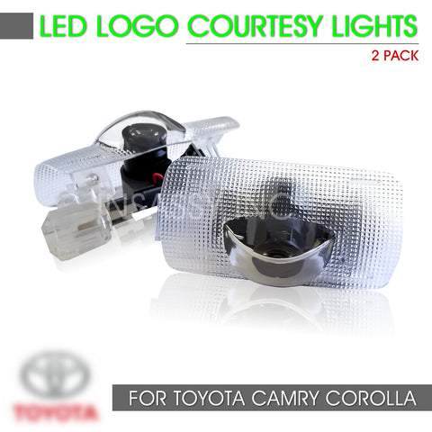 2 LED Door Light Logo for Toyota Welcome Courtesy Projector Lighting