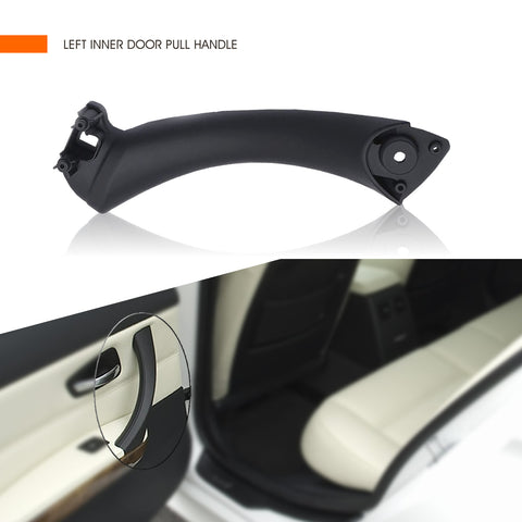 InSassy Door Pull Handle for BMW E90 E91 E92 E93 3 Series - LEFT Rear Inner Door Panel Handle Support Bracket - Rear Driver Side Door Handle Replacement 51-41-7-230-849 Black