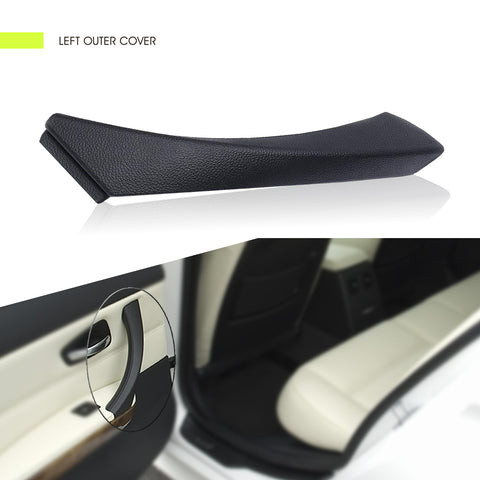 InSassy Door Panel Pull Handle Trim Cover for BMW E90 E91 E92 E93 3 Series - LEFT Rear Interior Door Handle Trim Cover - Left Rear Driver Side Door Handle Trim Replacement 51-41-9-150-335 Black