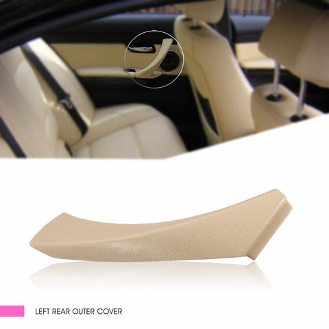 InSassy Door Panel Pull Handle Trim Cover for BMW E90 E91 E92 E93 3 Series - LEFT Rear Interior Door Handle Trim Cover - Rear Driver Side Door Handle Trim Replacement 51-41-9-150-339 Beige