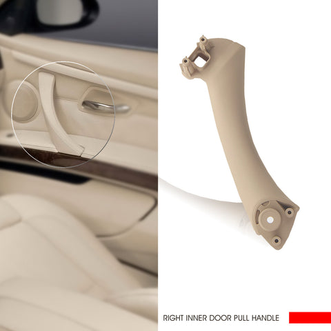 InSassy Door Pull Handle for BMW E90 E91 E92 E93 3 Series - RIGHT Front/Rear Inner Door Panel Handle Support Bracket - Passenger Side Door Handle Replacement 51-41-7-230-854 Beige