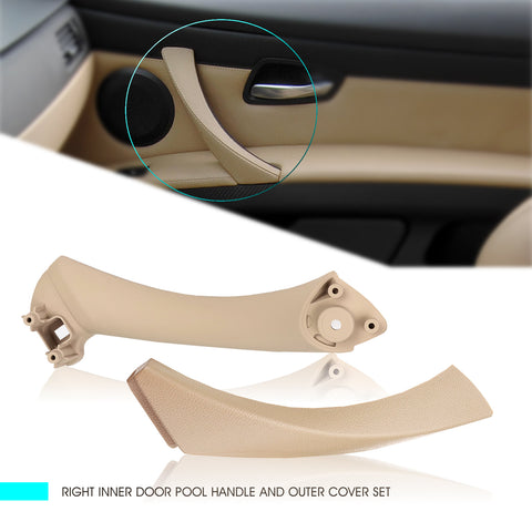 InSassy Door Pull Handle Set for BMW E90 E91 E92 E93 3 Series - RIGHT Passenger Side Front/Rear Set