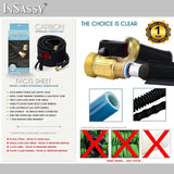 Expandable Garden Hose by InSassy | Brass Fitting Connector | For Gardening, Lawn Watering