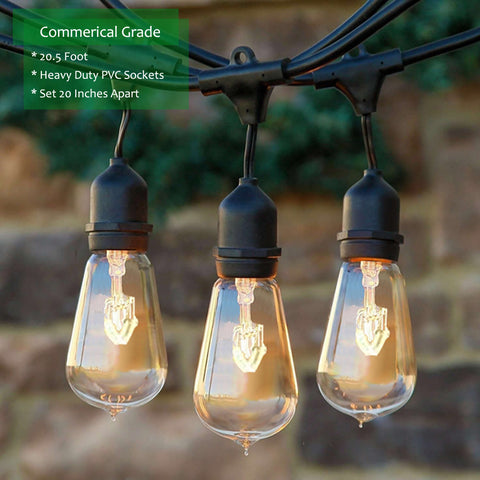 Outdoor string lights weatherproof 205 ft with 10 hanging sockets outdoor string lights weatherproof 205 ft with 10 hanging socketsul listed commercial grade wiring workwithnaturefo