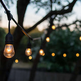 Outdoor String Lights Weatherproof 20.5 Ft with 10 Hanging Sockets–UL Listed Commercial Grade Wiring