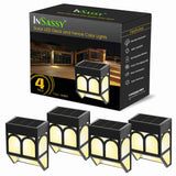 Solar LED Outdoor Lights - Warm White Waterproof Security Lighting for Deck, Fence, Patio, and More