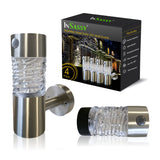 Outdoor Landscape Solar Lights - LED Waterproof Patio - Glass Stainless Steel – Warm Light -Guardian