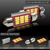 36MM Festoon LED Canbus 12 SMD Interior Bulb Courtesy Map Dome License Light 4x