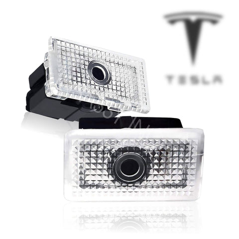 InSassy LED Door Light Logo Projector Courtesy Welcome for Tesla 3 X S 2PCS