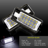 LED License Plate Light Bulb For Audi A3 A4 S4 A6 A8 Q7 B6 B7 Quattro Canbus 2x
