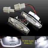 2x 18 LED License Plate Light For Honda Civic Accord Odyssey Acura TL RL TSX MDX