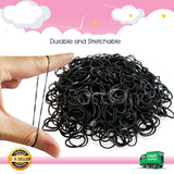 600 Refillable Black Rubber Loom Band For Kids Child Handmade Toy DIY