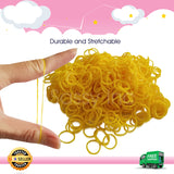 600 Refillable Yellow Rubber Loom Band For Kids Child Handmade Toy DIY