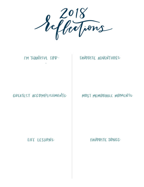 FRIDAY FREEBIE • Reflection + Intentions