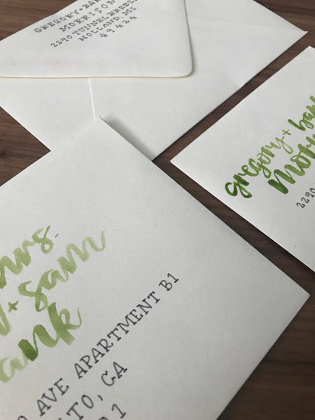 Hand Lettered Envelopes • Style Five