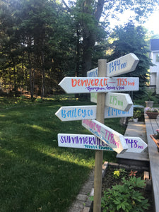 Wooden Garden Arrows • Custom