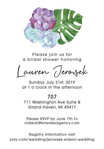 Lauren's Shower Invitations