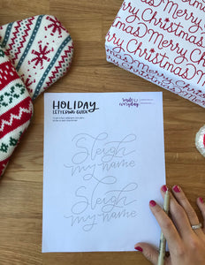 FRIDAY FREEBIE • Sleigh My Name, Sleigh My Name