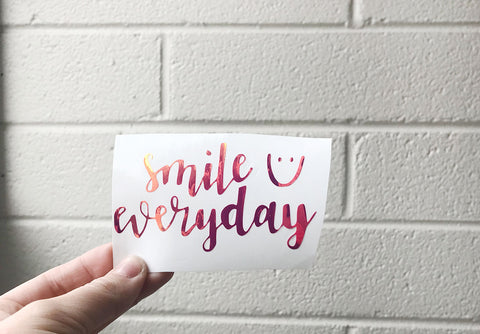 Vinyl Decals • Smile Everyday
