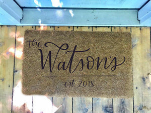 Custom Name • Door Mat