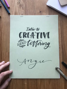 Intro to Creative Hand Lettering • April 18th