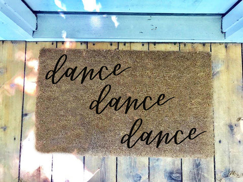 Dance Dance Dance • Door Mat