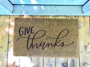 Give Thanks • Door Mat