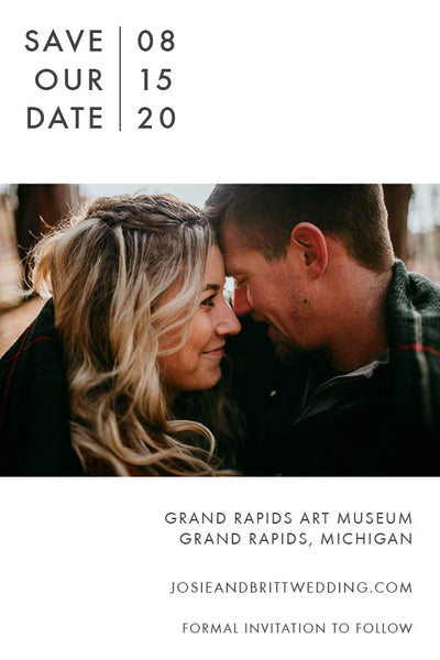 Custom Photo • Save the Date