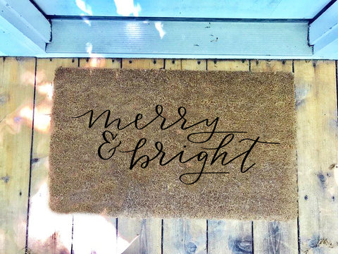 Merry & Bright • Door Mat