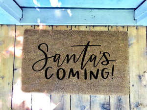 Santa's Coming! • Door Mat