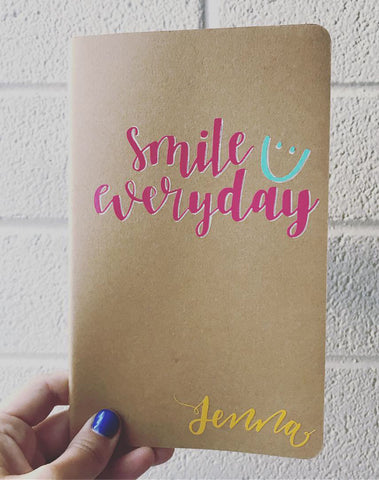 "Smile Everyday Kraft Journal • 5.25"" x 8.25"""