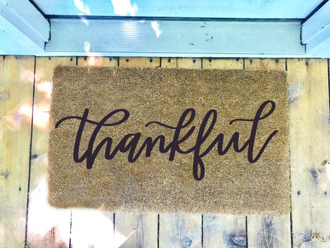 Thankful • Door Mat