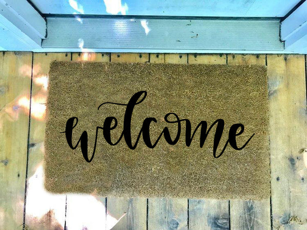 Welcome, Two Styles • Door Mat