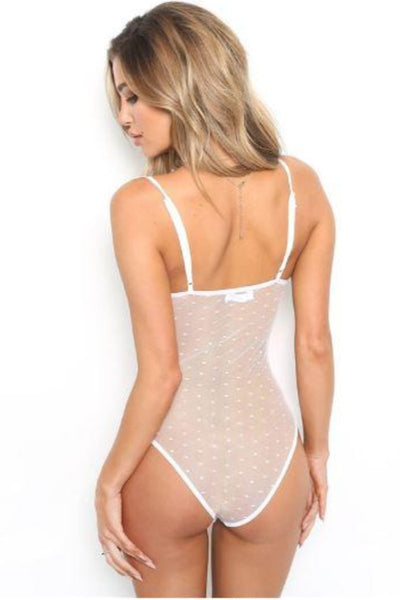 Contrasting Lace Underwire Bodysuit