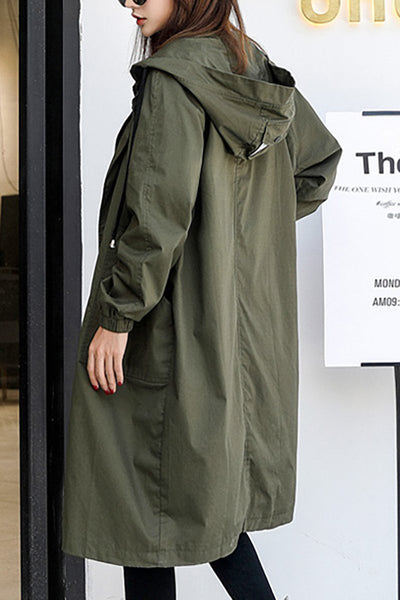 Hooded Army Midi Coat