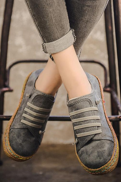Straw Platform Self Lacing Sneakers