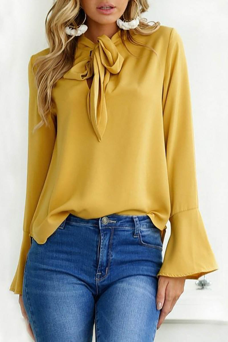Bell Sleeve Women S Blouse The Looselystore