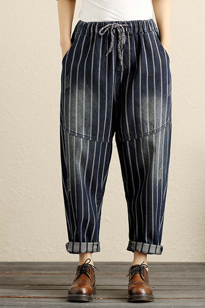 Baggy Denim Harem Pants