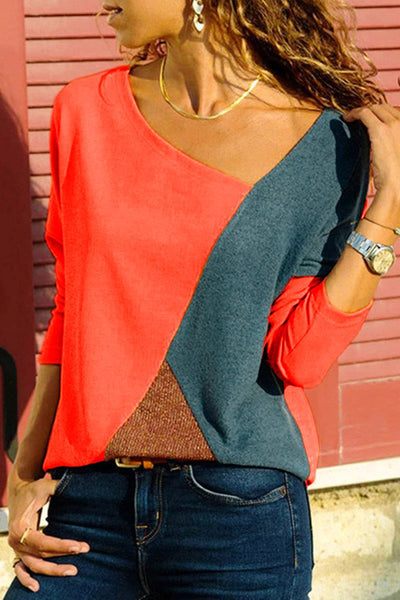 Geometric Colourblock Top