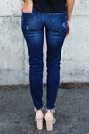 Pleated Pencil Jeans