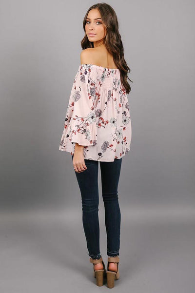 Fallen Floral Long Sleeve Blouse