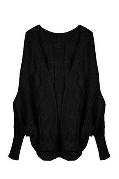 Slouchy Cable Knit Cardigan