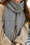 Modern Herringbone Brushed Scarf